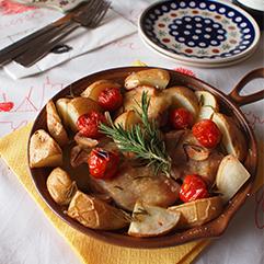 鶏もも肉とジャガイモのオーブン焼き