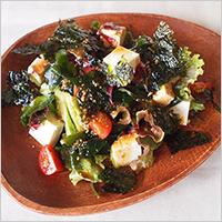 豆腐と海藻の韓国風サラダ