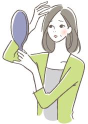 女性の抜け毛の原因イメージ