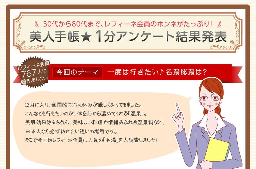 美人手帳★1分アンケート結果発表
