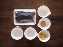 さわらの味噌焼き材料