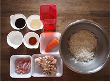 舞茸と鶏肉の炊き込みご飯材料