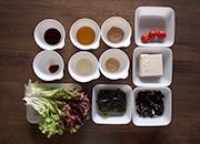 豆腐と海藻の韓国風サラダ材料