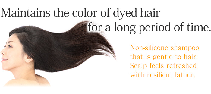 Maintains the color of dyed hair for a long period of time.