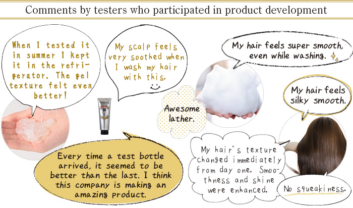 Comments by testers who participated in product development