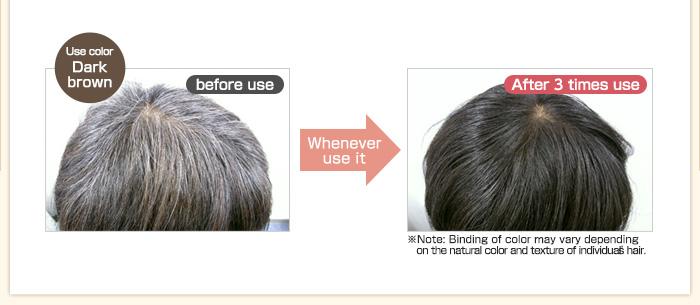 使うごとに艶やかな美髪へ。使用カラーはヘッドスパレフィーネのダークブラウン。
