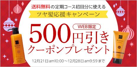 定期コース初回購入で使える500円クーポンプレゼント
